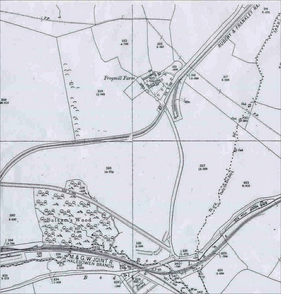 three branch lines can be seen one going to frankley reservoir during building period and another going to the lunatic asylum hospital