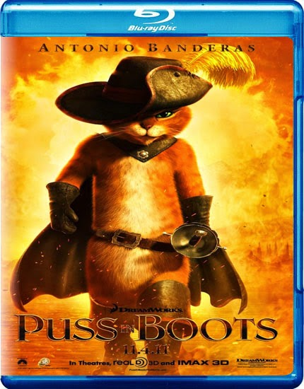 Puss in Boots 2011 Hindi Dubbed Dual Audio BRRip 300MB