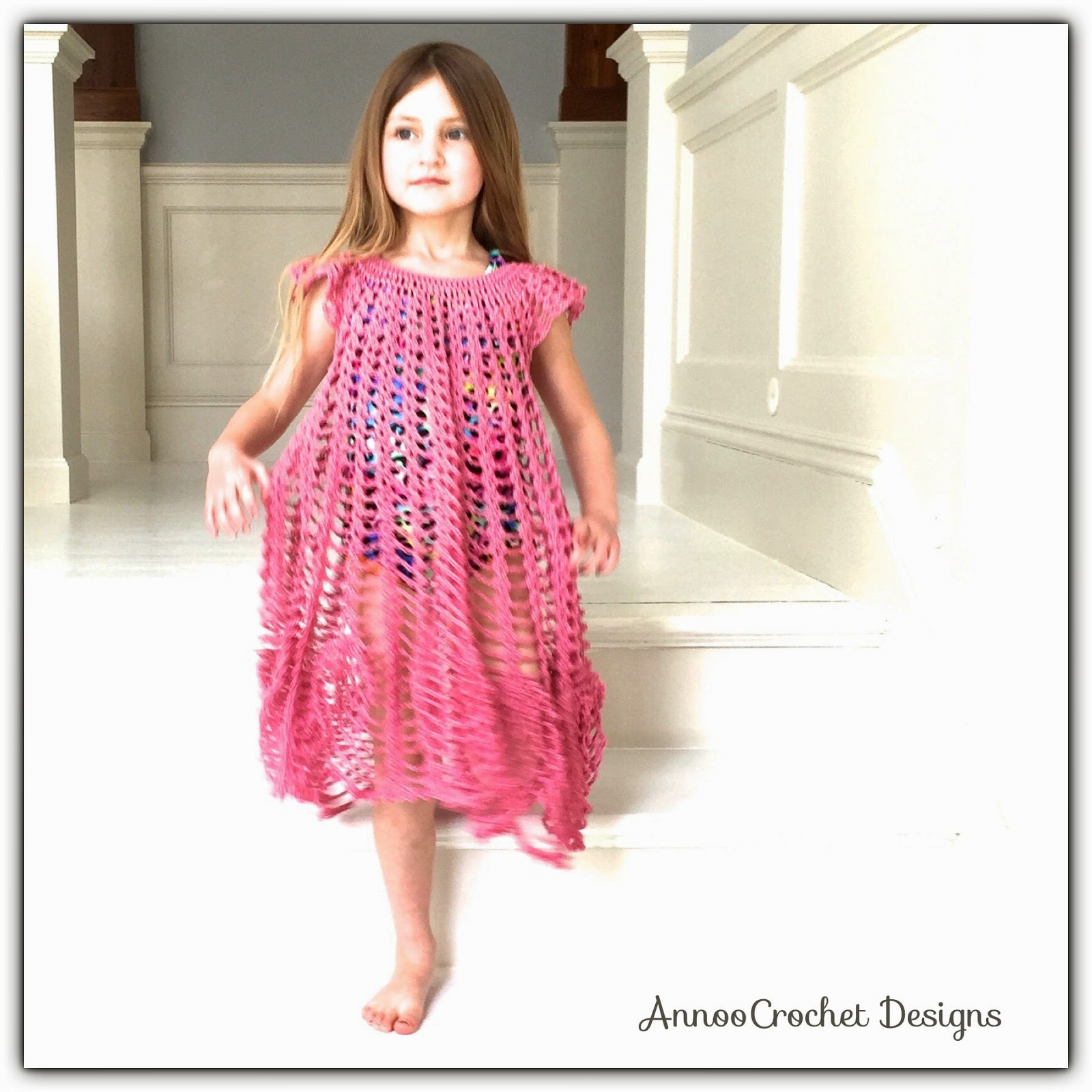 Annoos crochet world flower petal circular beach cover up free light airy and delicate this beach cover up i created is perfect for little princesses to twirl in made in the round with no seems adds to give it a bankloansurffo Gallery