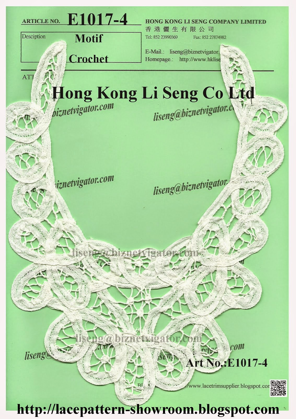 Chinese Handmade Crochet Motif and Applique Manufacturers Wholesalers - Hong Kong Li Seng Co Ltd
