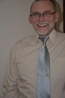 Silver tie beige shirt