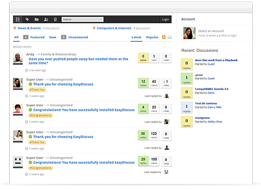 EasyDiscuss v3.1.8601 Modules for Joomla!