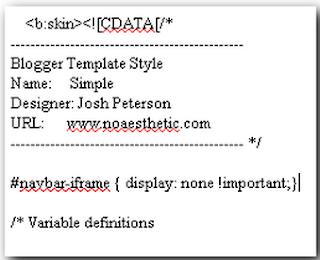 How To Remove Blogger Navbar 2013
