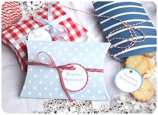 Vorlage pillow box - Geschenkschachtel