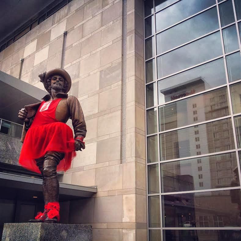 Sir Walter Raleigh Wears Red