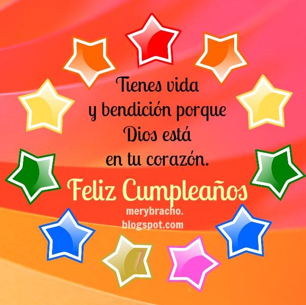Mensajes cortos de cumpleaños cristianos, frases cortas para felicitar cumple de amigo, amiga, familia con palabras cristianas y buenos deseos.