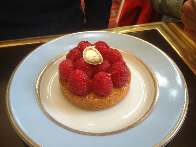 Tarte passion framboise at Ladurée, Paris