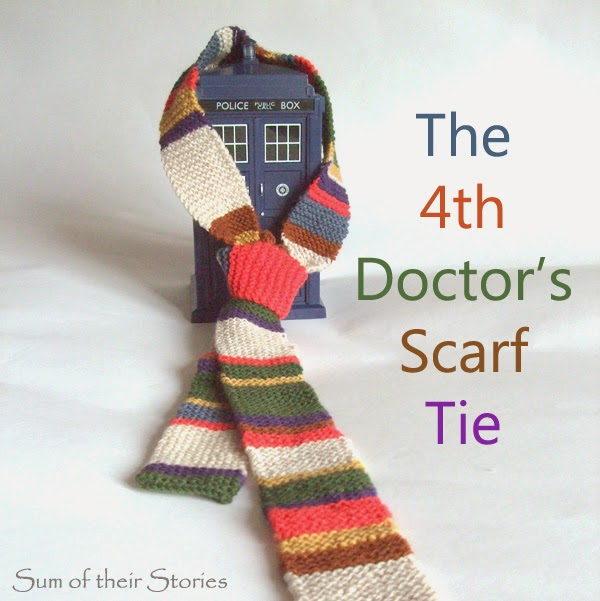 Doctor Who knitted scarf tie