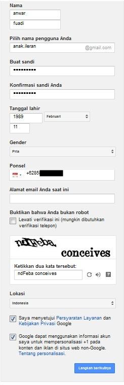 Infokus - Pendaftaran Gmail