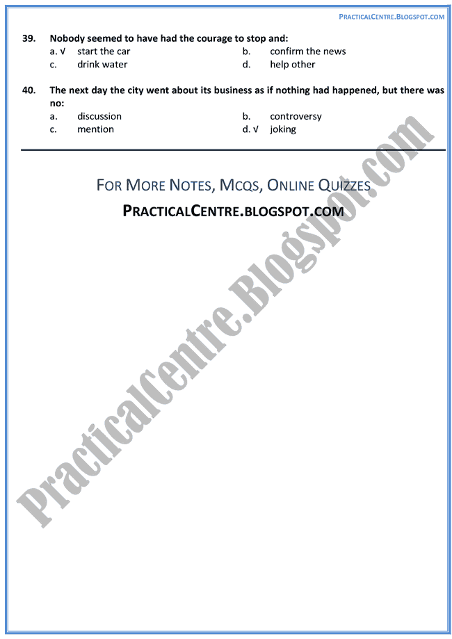The-Day-The-Dam-Broke-Prose-MCQs-English-XII