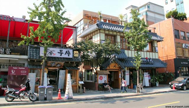 Restaurantes internacionales en el barrio francés de Seúl
