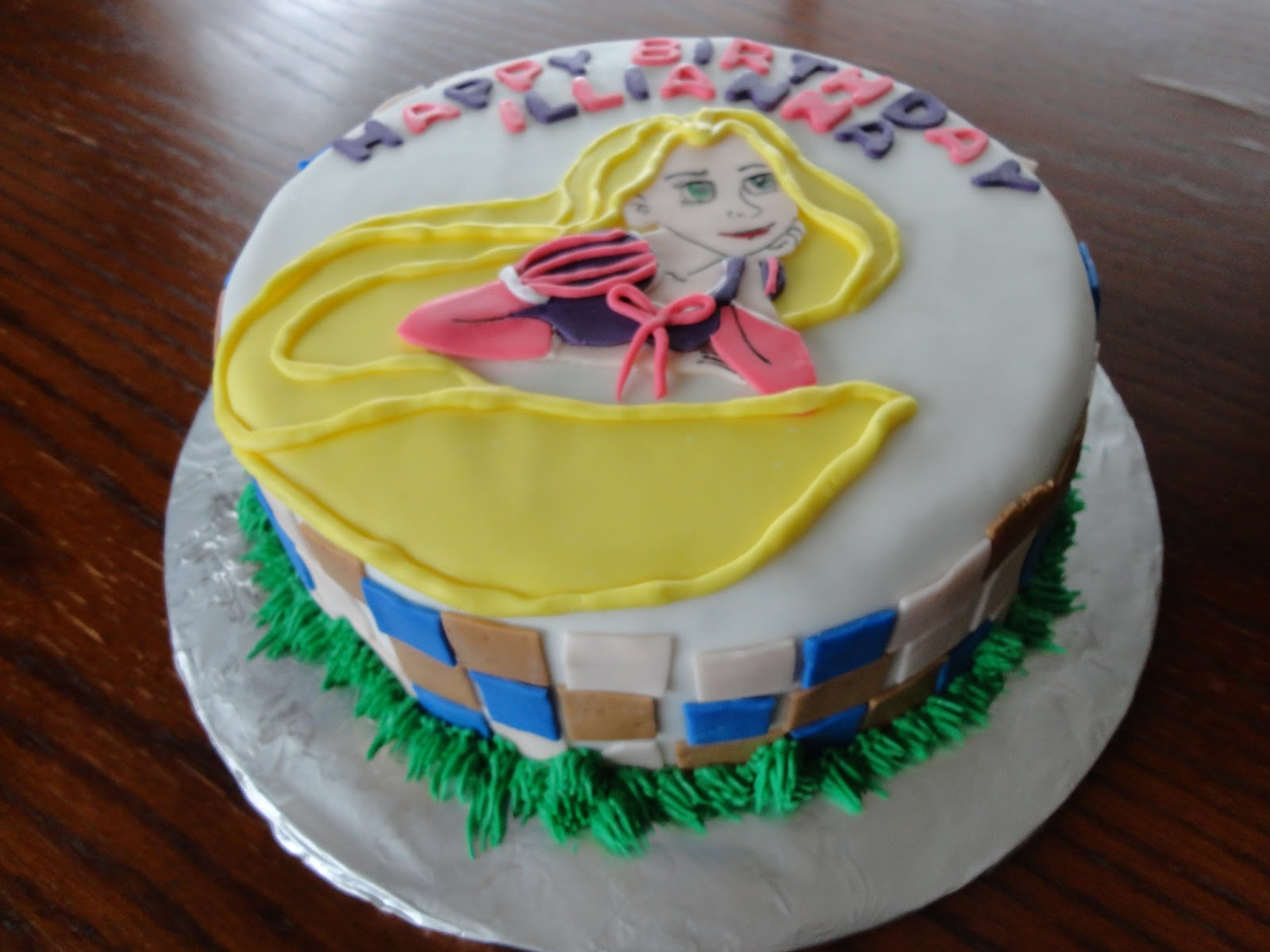 The Adventures Of J And K Tangled Birthday Cake