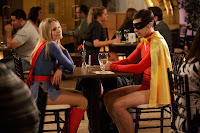 Kristen Bell and Justin Long as Supergirl and Robin in Movie 43; one of the unfunniest and embarrassing scenes ever filmed
