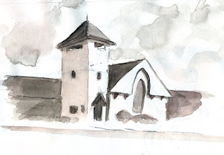 freeport maine church ammon perry illustration sketch harrisburg pa
