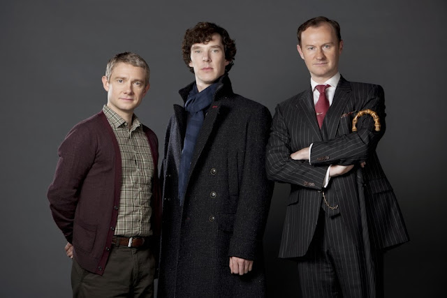 Sherlock series 3 The Empty Hearse BBC One Cumberbatch Freeman Gatiss
