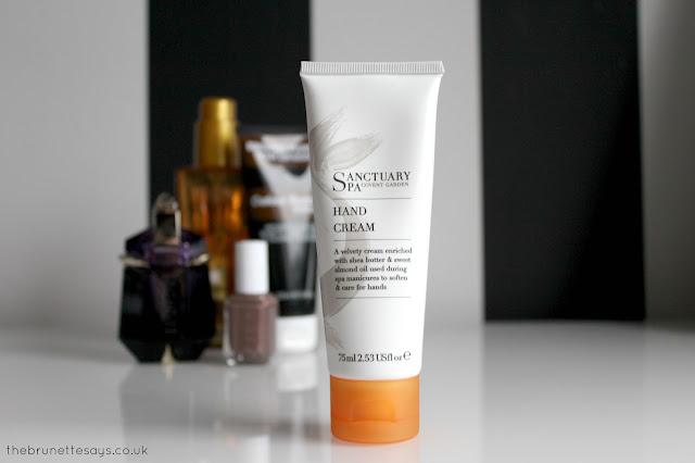 sanctuary spa, hand cream
