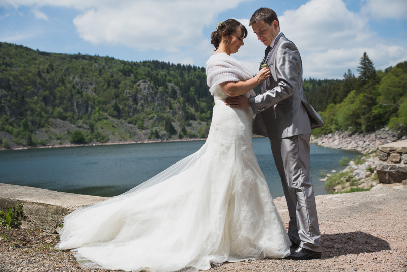 lac blanc mariée
