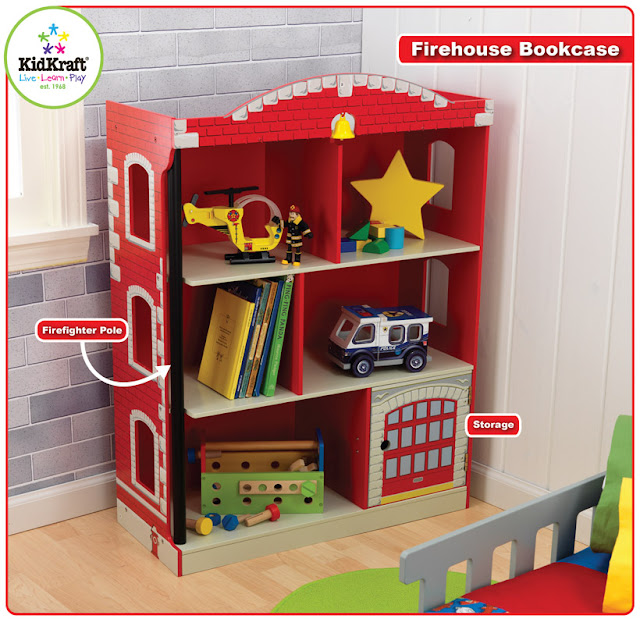 Kidkraft Firehouse Bookcase: KidKraft Toys & Furniture: In Stores Now! Firehouse Bookcase