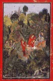 Krishna and Radha with Milkmaids