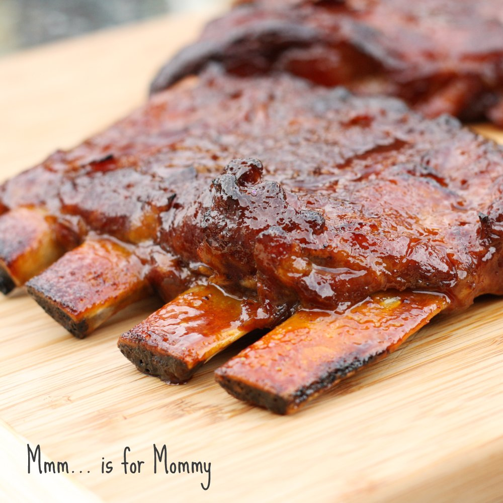 Slow Cooker Honey Garlic & Ginger Ribs - Mmm... is for Mommy