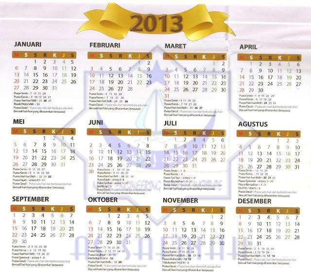 Penanggalan Malaysia: Kalender Puasa Sunnah 2015