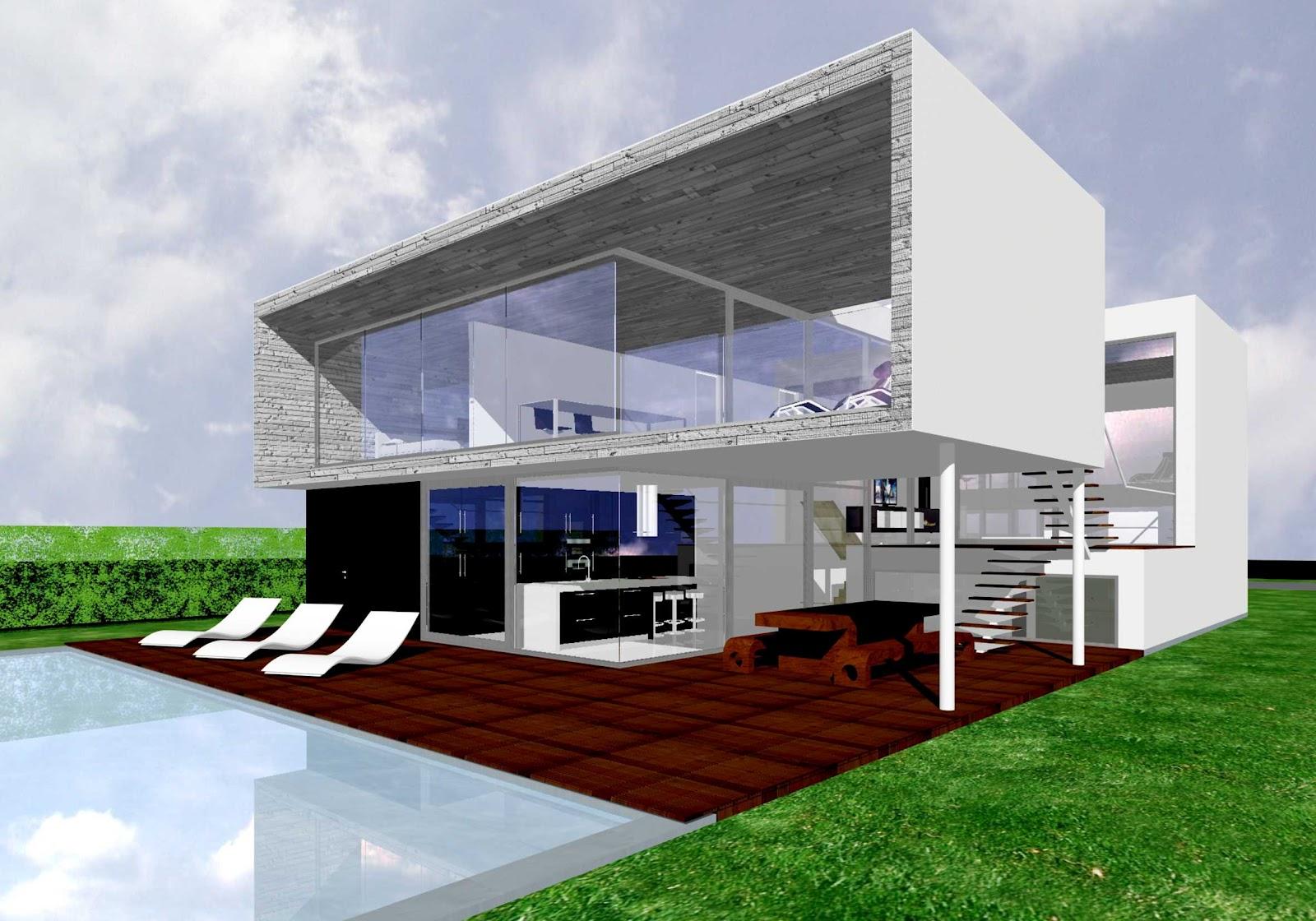 De moderne architectuur max8 - Buiten villa outs ...