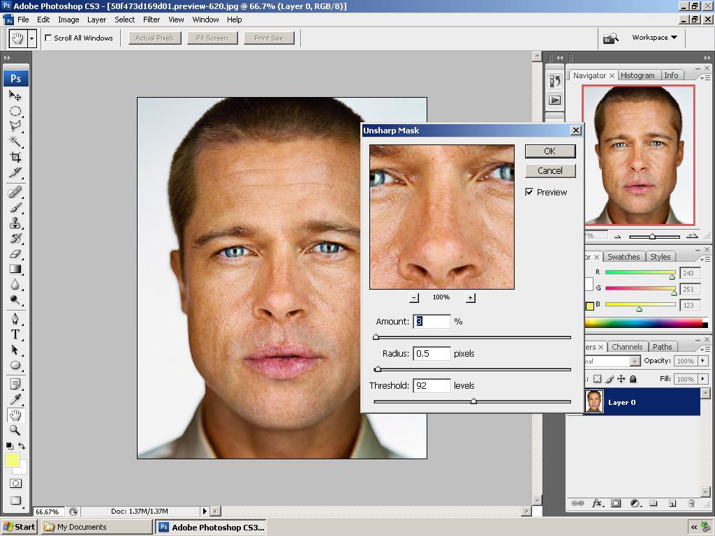 cara belajar tutorial photoshop retouch menghaluskan kulit dengan photoshop 2