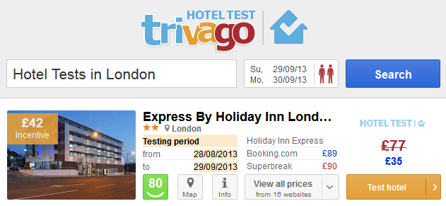 Testowanie hoteli z Trivago