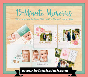Cut Above Scrapbooking Layout Kits...are 50% off in April 2017!!