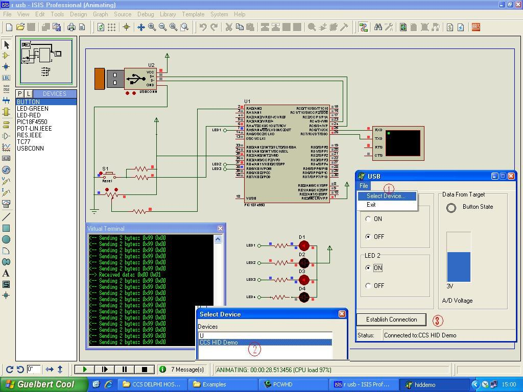 Isis Proteus Projects Pic Ccs Lm35 Temperature Sensor Example With Pic16f877 Lcd Electronics Download