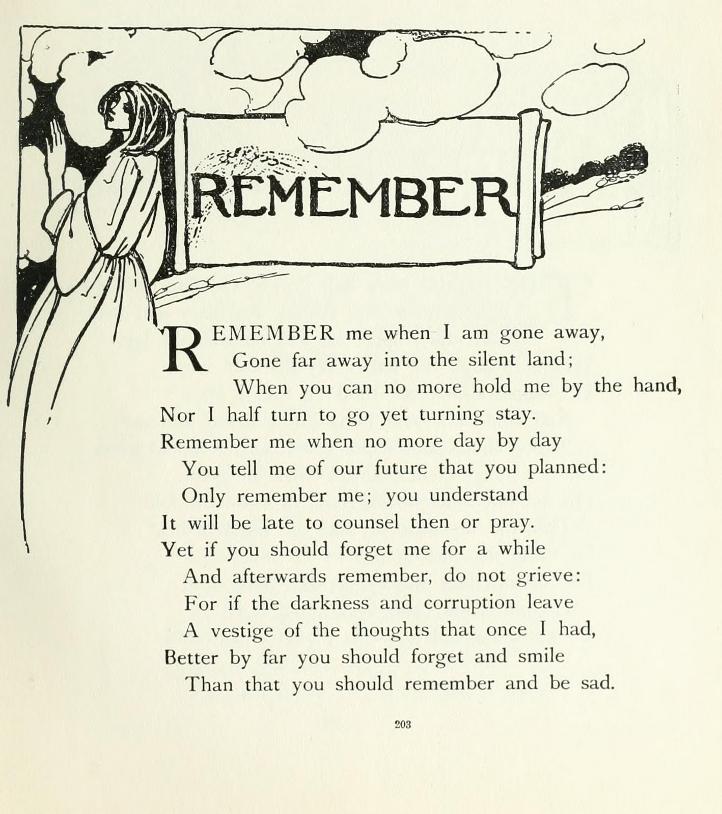 Remember By Christini Rossetti