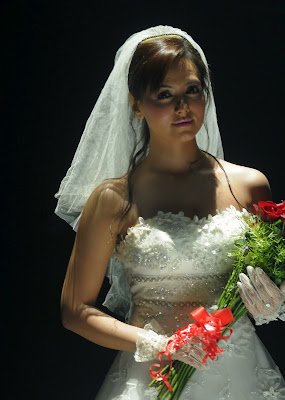 sana khan in wedding dress