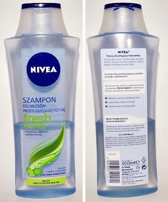 Nivea, szampon do włosów przetłuszczających się Fresh Energy