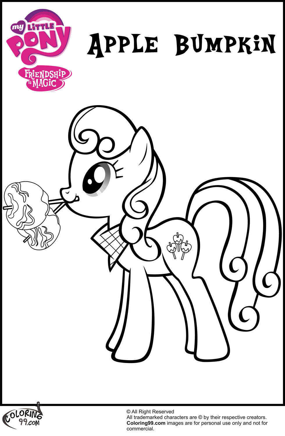 Apple Bumpkin Coloring Pages