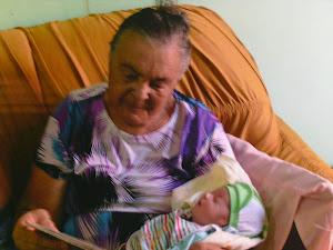 Mãe com Samuel