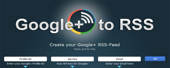RSS Feeds Dari Google Plus