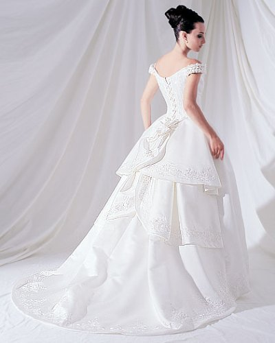 Wedding Gowns With Designs : White bridal s dresses designs quot fancy and elegant