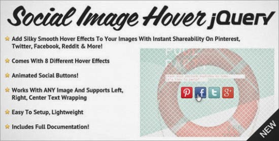 Social Image Hover for jQuery