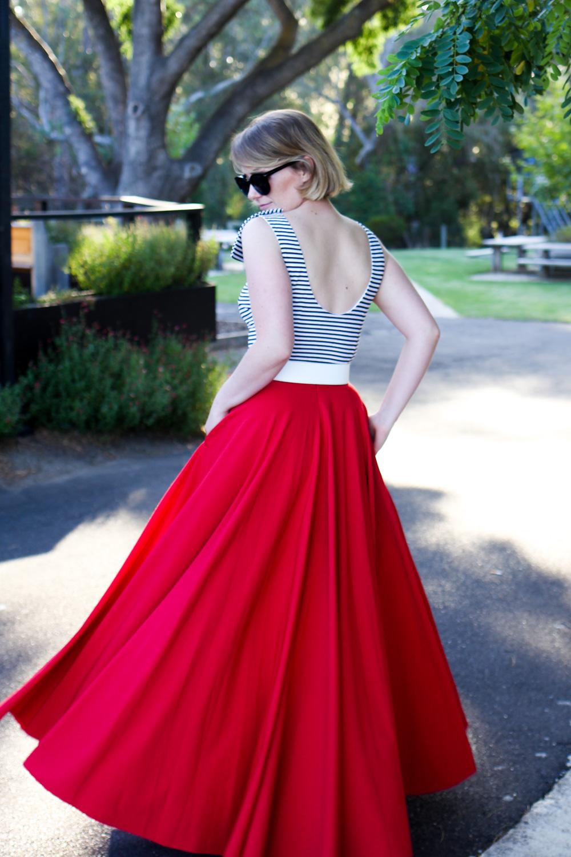 maxi circle skirt finding femme