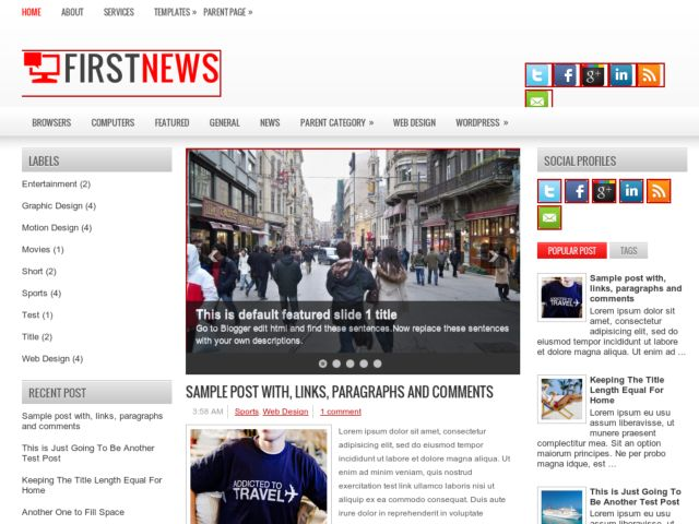 First News Blogger Template