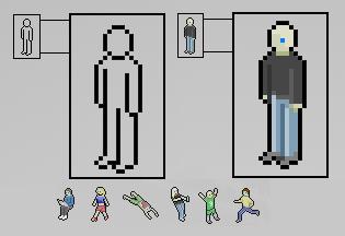 Как рисовать людей в пиксель арте