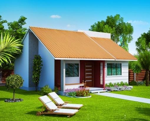 Fachadas de casas simples e pequenas for Antejardines de casas pequenas
