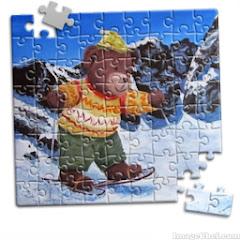 puzzle montagne en raquettes