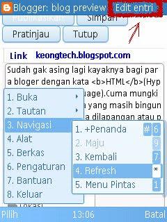 contoh edit entri blog pake hp
