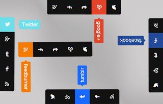 Add bar icons social sites