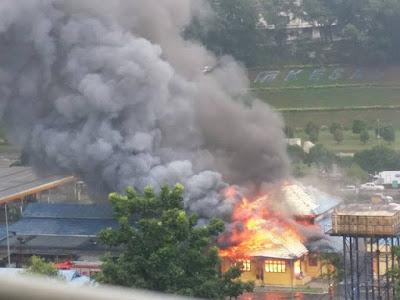 Lima Restoran Terbakar dalam Kebakaran di R&R