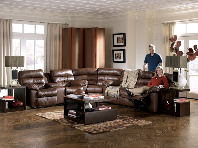 Ashley Furniture Sectional Leather Sofas