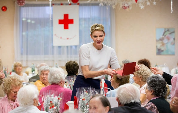 Princess Charlene Visited Elderly At The Hector Otto Foundation