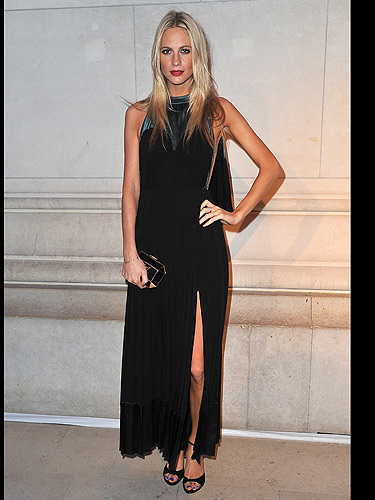 Poppy Delevingne The Midst Of A Fashion Moment, Seemingly Sitting
