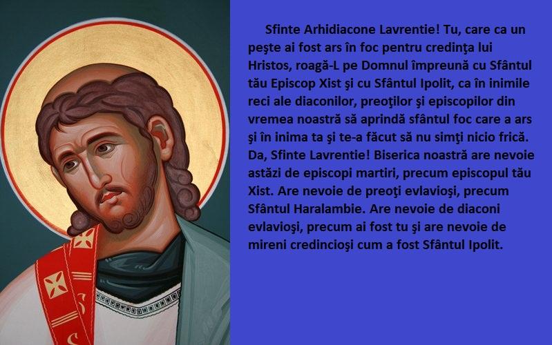 Sfantul Arhidiacon Lavrentie